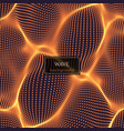 wavy abstract vector image