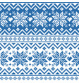 winter christmas fair isle style traditional knit vector image vector image