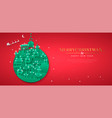 year paper cut bauble winter city vector image vector image