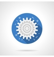 Influenza icon blue round flat icon vector image