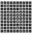 100 shopping icons set grunge style vector image