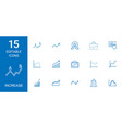 15 increase icons vector image vector image