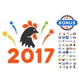 2017 Rooster Year Celebration Fireworks Icon With vector image