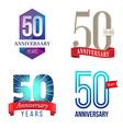 50 Years Anniversary Symbol vector image