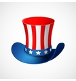American Independence Day Holiday hat vector image vector image