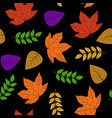 autumn leaf seamless 100 for background design vector image