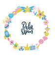 baby shower frame lettering quote inside round vector image vector image