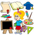 back to school collection 2 vector image