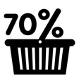 Basket seventy percent discount icon simple style vector image vector image
