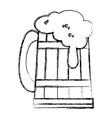 beer jar celebration icon vector image