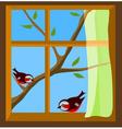 birds on window vector image vector image