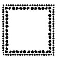 black and white abstract frame vector image vector image