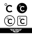 celsius symbol vector image vector image