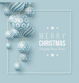 christmas blue balls holiday background vector image vector image