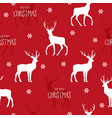 christmas seamless pattern with reindeer vector image vector image