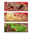 collection of chocolate packaging vector image vector image