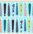 colorful collection neck ties background vector image vector image
