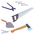 construction repair tools vector image vector image