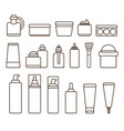 containers of skincare means black and white set vector image