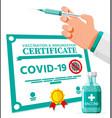 covid19-19 vaccination passport vector image