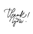 creative black message thank you on white vector image