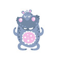 cute cartoon hippo character meditating vector image vector image
