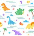 cute dinosaur pattern dino surface dinosaurs vector image vector image