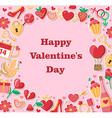 Decorative Valentine background vector image vector image