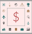 dollar symbol icon elements for your design vector image