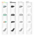 electric train transport and other web icon in vector image vector image