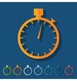 Flat design stopwatch vector image