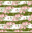floral magnolia retro vintage background vector image vector image