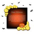 frame halloween with tennis balls vector image vector image