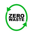 garbage processing and recycling logo or badge of vector image