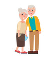 grandma and grandpa isolated vector image