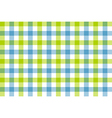 Green blue check fabric texture background vector image vector image