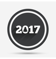 Happy new year 2017 sign icon Calendar date