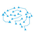 isolated brain network icon vector image