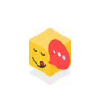 isometric gourmet icon like emoji face isolated on vector image vector image