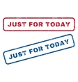 Just For Today Rubber Stamps vector image vector image