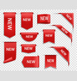 label banners new tag badges icons for web page vector image vector image