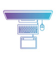 laptop computer and digitizer tablet connection on vector image vector image
