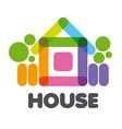 logo multicolored rural house vector image