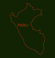 map of peru with all main tourist attraction of vector image vector image
