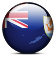 Map on flag button of Anguilla vector image