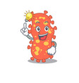 mascot character design bacteroides with has vector image vector image