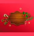 merry christmas and new year wishing template vector image vector image