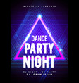 modern abstract dance party poster background vector image vector image