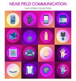 near field communication online payment banner vector image vector image