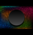 neon led lights abstract glowing background vector image vector image
